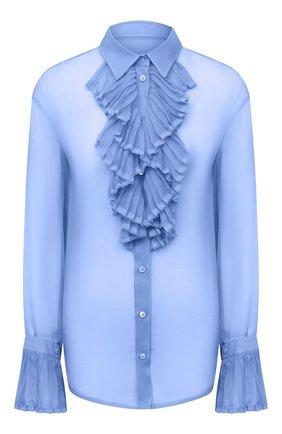 Женская шелковая блузка MAISON MARGIELA голубого цвета, арт. S29DL0190/S38057 | Фото 1