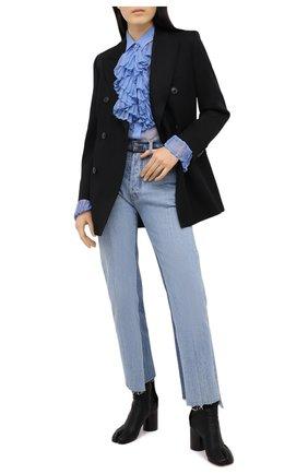 Женская шелковая блузка MAISON MARGIELA голубого цвета, арт. S29DL0190/S38057 | Фото 2