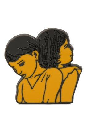 Женская значок CHLOÉ разноцветного цвета, арт. CHC20WFP01BZL | Фото 1 (Материал: Металл)