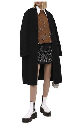 Женская шерстяная юбка N21 темно-синего цвета, арт. 20I N2S0/C084/3010 | Фото 2