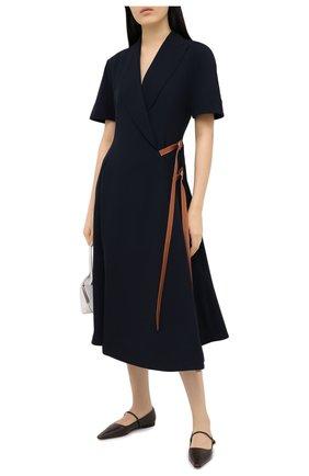 Женское шерстяное платье LOEWE темно-синего цвета, арт. S359335XB8   Фото 2