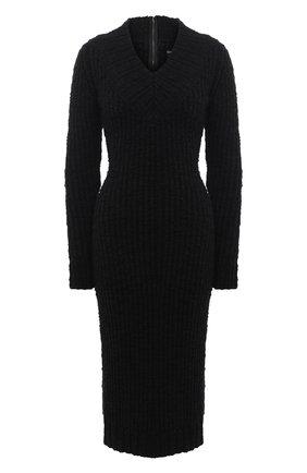 Женское шерстяное платье DOLCE & GABBANA черного цвета, арт. FXA84T/JAM73 | Фото 1