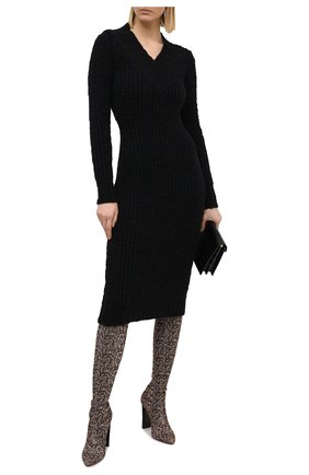 Женское шерстяное платье DOLCE & GABBANA черного цвета, арт. FXA84T/JAM73 | Фото 2