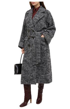 Женское шерстяное пальто DOLCE & GABBANA серого цвета, арт. F0AK3T/FQMGU | Фото 2