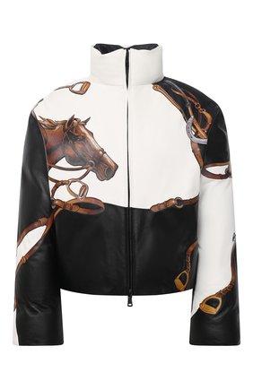 Женская кожаная куртка RALPH LAUREN черного цвета, арт. 290820944 | Фото 1