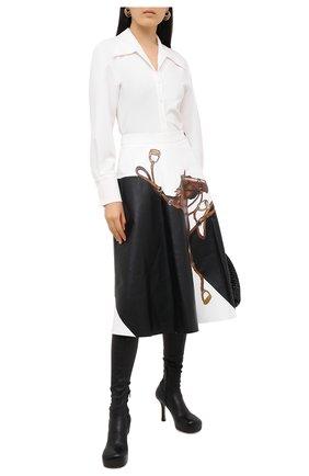 Женская кожаная юбка RALPH LAUREN черного цвета, арт. 290820371 | Фото 2