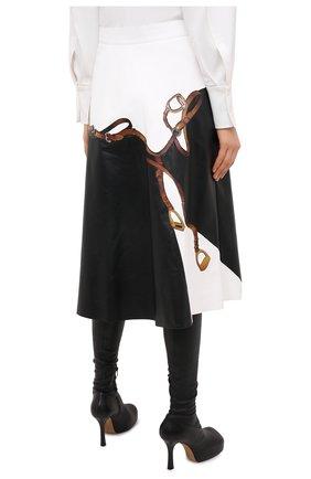 Женская кожаная юбка RALPH LAUREN черного цвета, арт. 290820371 | Фото 4