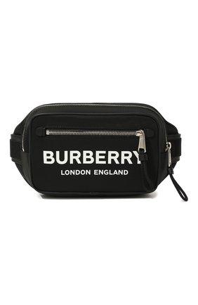 Мужская текстильная поясная сумка BURBERRY черного цвета, арт. 8021089 | Фото 1