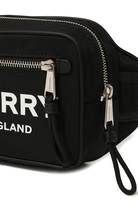 Мужская текстильная поясная сумка BURBERRY черного цвета, арт. 8021089 | Фото 2