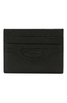 Мужской кожаный футляр для кредитных карт BALENCIAGA черного цвета, арт. 640109/15Y07 | Фото 1