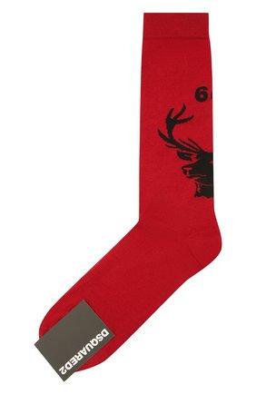 Мужские шерстяные носки DSQUARED2 красного цвета, арт. DFV142000 | Фото 1