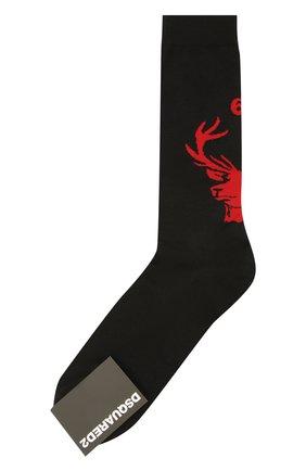 Мужские шерстяные носки DSQUARED2 черного цвета, арт. DFV142000 | Фото 1