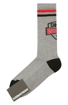 Мужские носки DSQUARED2 серого цвета, арт. DFV141940 | Фото 1