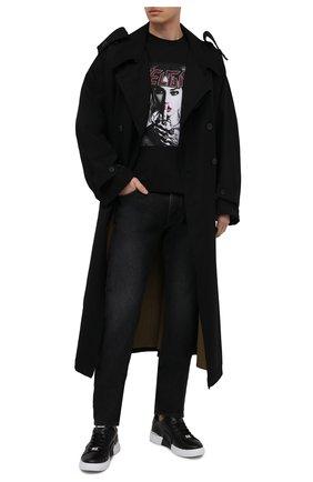 Мужская хлопковая футболка RELIGION черного цвета, арт. 30TGRN96   Фото 2