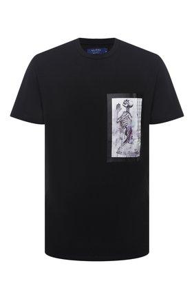 Мужская хлопковая футболка RELIGION черного цвета, арт. 30TSBN96   Фото 1