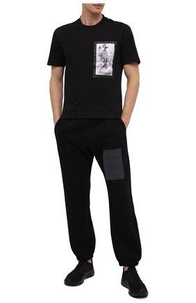 Мужская хлопковая футболка RELIGION черного цвета, арт. 30TSBN96   Фото 2
