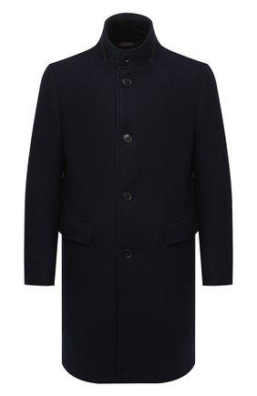 Мужской шерстяное пальто Z ZEGNA темно-синего цвета, арт. 877031/42PCS0 | Фото 1 (Материал утеплителя: Пух и перо, Натуральный мех; Материал внешний: Шерсть, Кашемир; Длина (верхняя одежда): До середины бедра; Рукава: Длинные; Мужское Кросс-КТ: пальто-верхняя одежда, Верхняя одежда; Стили: Классический)