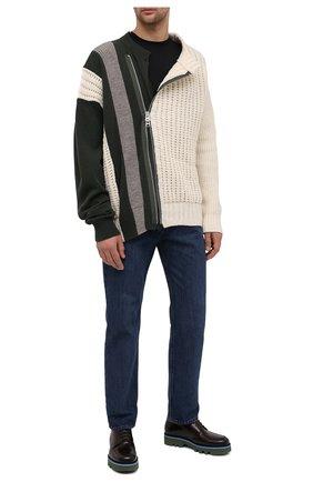 Мужской кожаные дерби DRIES VAN NOTEN темно-коричневого цвета, арт. MW28/007/QU122 | Фото 2