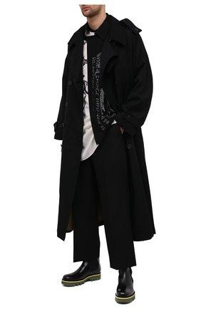 Мужские кожаные челси DRIES VAN NOTEN черного цвета, арт. MW28/009/QU122 | Фото 2