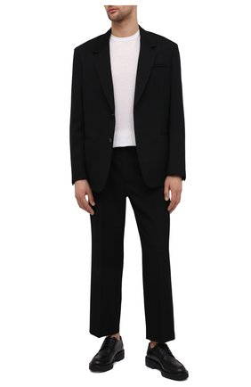 Мужской кожаные дерби DRIES VAN NOTEN черного цвета, арт. MW28/037/QU103 | Фото 2