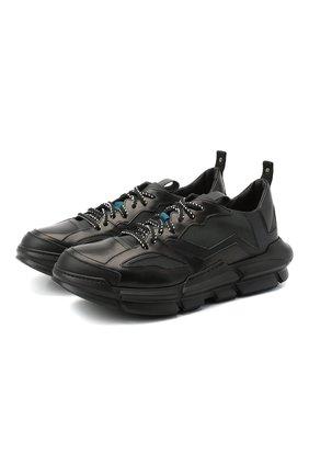 Мужские комбинированные кроссовки ATTIMONELLI'S черного цвета, арт. AA401 | Фото 1