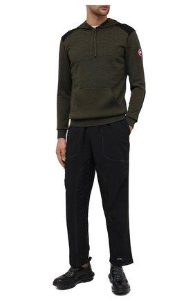 Мужские комбинированные кроссовки ATTIMONELLI'S черного цвета, арт. AA401 | Фото 2