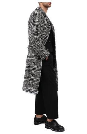 Мужские кожаные оксфорды ATTIMONELLI'S черного цвета, арт. AA435   Фото 2