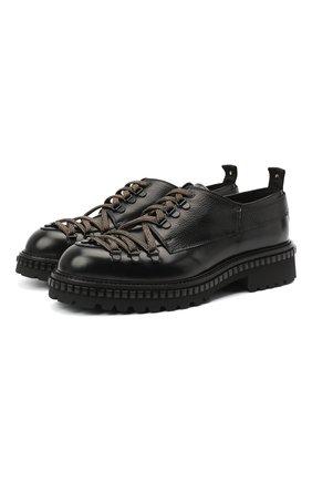 Мужские кожаные ботинки ATTIMONELLI'S черного цвета, арт. AA440 | Фото 1