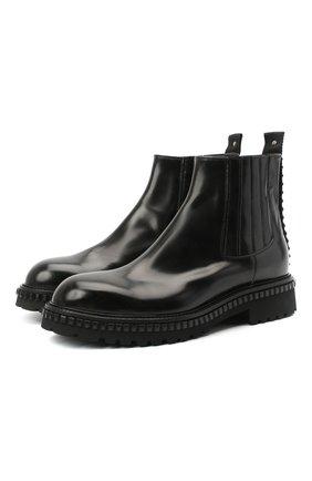 Мужские кожаные челси ATTIMONELLI'S черного цвета, арт. AA451V | Фото 1