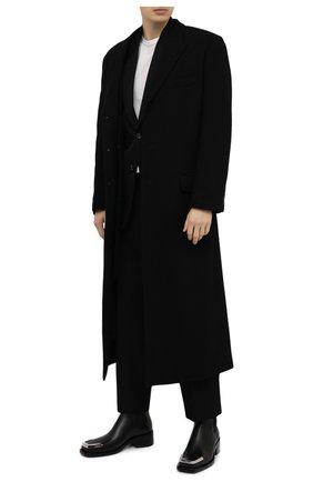 Мужские кожаные челси GIVENCHY черного цвета, арт. BH602EH0R0 | Фото 2