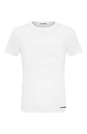 Мужская хлопковая футболка JIL SANDER белого цвета, арт. JPUR707512-MR248308 | Фото 1
