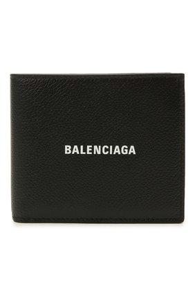 Мужской кожаное портмоне BALENCIAGA черного цвета, арт. 594315/1IZI3 | Фото 1