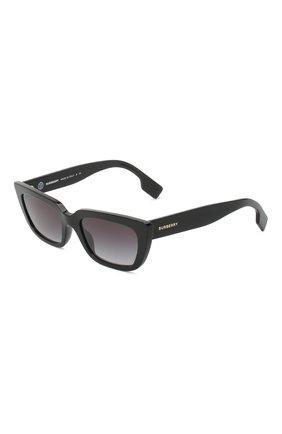 Женские солнцезащитные очки BURBERRY черного цвета, арт. 4321-38788G | Фото 1