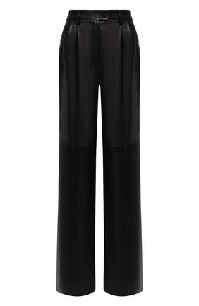 Женские кожаные брюки MASLOV черного цвета, арт. BR101 | Фото 1