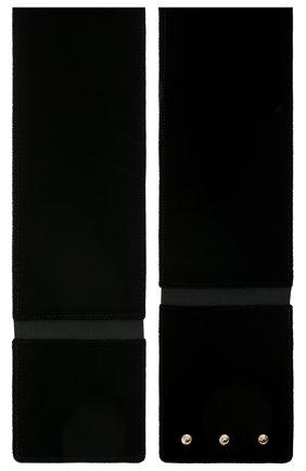 Женский бархатный пояс GIORGIO ARMANI черного цвета, арт. Y1I188/YFZ5A | Фото 2 (Материал: Вискоза, Текстиль; Кросс-КТ: Широкие)