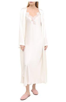 Женская шелковая сорочка LUNA DI SETA бежевого цвета, арт. VLST60515 | Фото 2