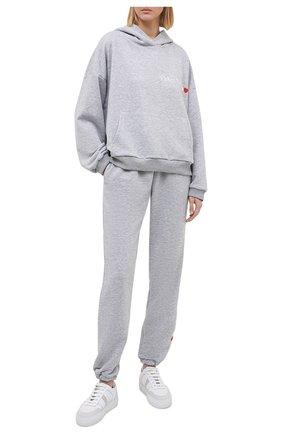 Женский хлопковый костюм SEVEN LAB серого цвета, арт. HP20-PF grey | Фото 1