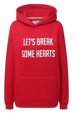 Женская хлопковое худи SEVEN LAB красного цвета, арт. HW20-BR HEART-G01 red | Фото 1