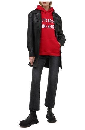 Женская хлопковое худи SEVEN LAB красного цвета, арт. HW20-BR HEART-G01 red | Фото 2