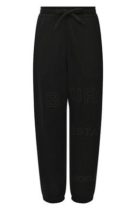 Женские хлопковые джоггеры BURBERRY черного цвета, арт. 8036102 | Фото 1