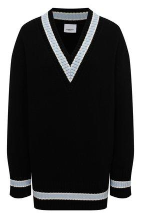 Женский шерстяной свитер BURBERRY черного цвета, арт. 8036072 | Фото 1