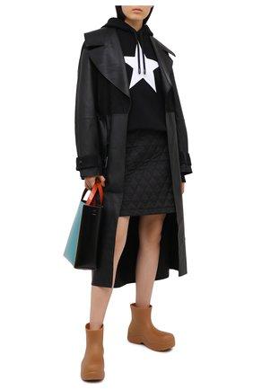 Женская хлопковое худи BURBERRY черного цвета, арт. 8036037 | Фото 2