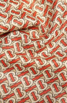 Женский шарф из кашемира и шелка BURBERRY оранжевого цвета, арт. 8035717 | Фото 2 (Материал: Кашемир, Шерсть; Принт: С принтом)