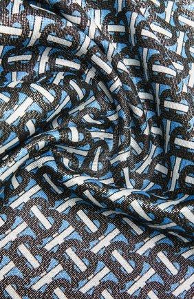 Мужские шарф из кашемира и шелка BURBERRY синего цвета, арт. 8035104 | Фото 2