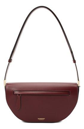 Женская сумка olympia BURBERRY бордового цвета, арт. 8034717 | Фото 1 (Материал: Натуральная кожа; Ремень/цепочка: На ремешке; Сумки-технические: Сумки top-handle; Размер: medium)
