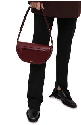 Женская сумка olympia BURBERRY бордового цвета, арт. 8034717 | Фото 2 (Материал: Натуральная кожа; Ремень/цепочка: На ремешке; Сумки-технические: Сумки top-handle; Размер: medium)