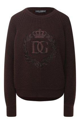 Женская кашемировый свитер DOLCE & GABBANA коричневого цвета, арт. FX202Z/JAW4L | Фото 1