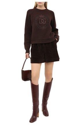 Женская кашемировый свитер DOLCE & GABBANA коричневого цвета, арт. FX202Z/JAW4L | Фото 2