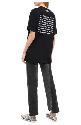 Женская хлопковая футболка VETEMENTS черного цвета, арт. UE51TR300B 1600/W | Фото 2