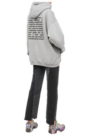 Женская хлопковое худи VETEMENTS серого цвета, арт. UE51TR310G 1601/W | Фото 2